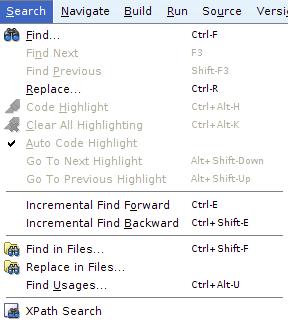 JDeveloper - Search in Files