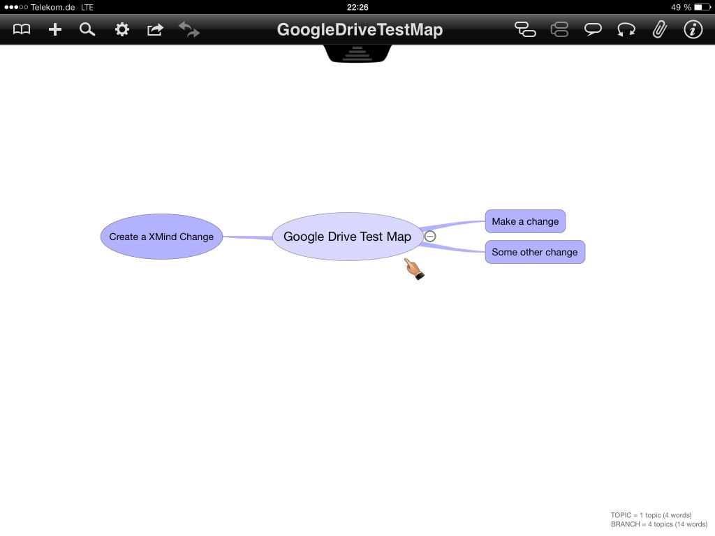 Edited mind map in iThoughts